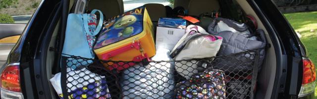La fijación del equipaje en el coche, fundamental