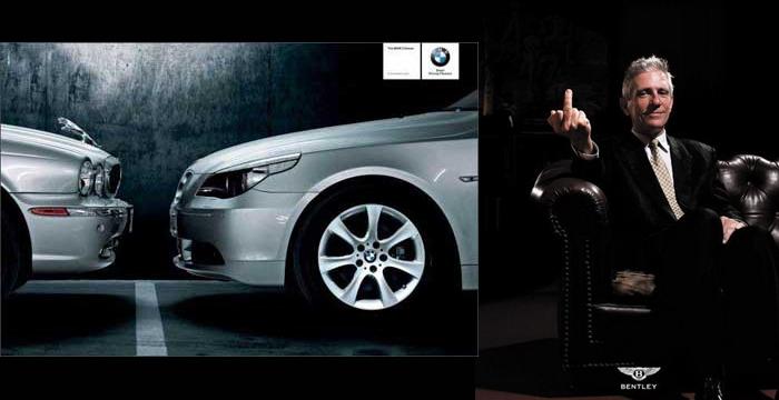 Peinetas, vídeos atrevidos, fotos trucadas, grandes dosis de ironía y mucha inteligencia en la guerra publicitaria entre marcas como Audi, Mercedes y BMW