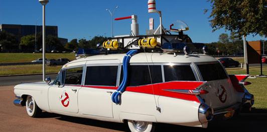 El Ectomovil, el coche de los cazafantasmas