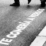 Misteriosos mensajes en los pasos de cebra de Madrid