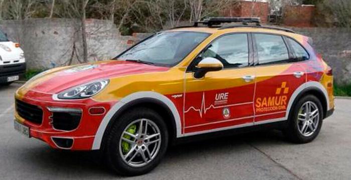 El Porsche Cayenne, la nueva joya del Samur del ayuntamiento de Madrid