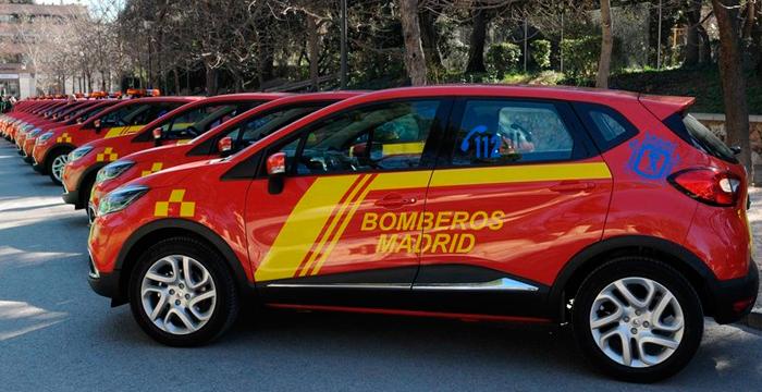 21 nuevos Renault Captur, los coches de los bomberos de Madrid