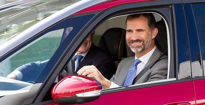 El Rey Felipe también ha sido sancionado con una multa de tráfico
