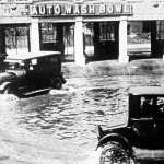Así funcionaba el primer autolavado de coches de la historia