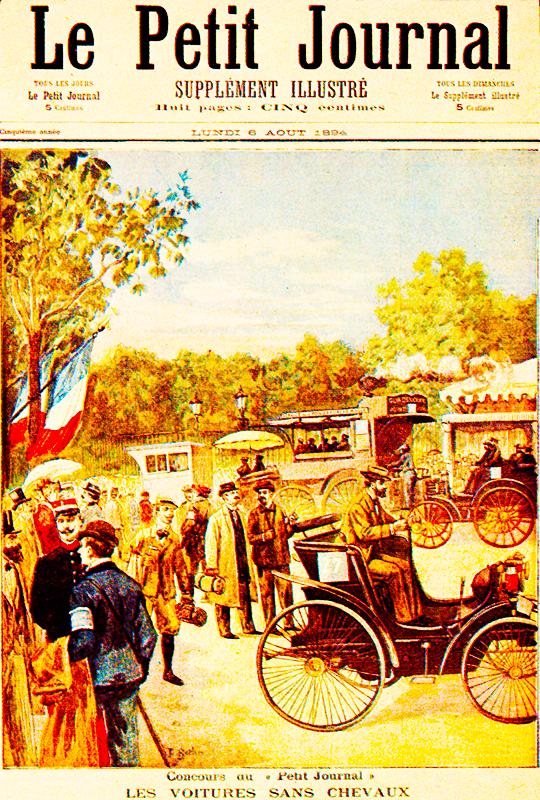 La primera carrera automovilística de la historia tuvo lugar entre París y Rouen, y fue organizada por Le Petit Journal.