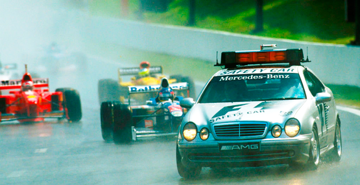 Mercedes Benz CLK 55 AMG, safety car de la F1 desde 1996