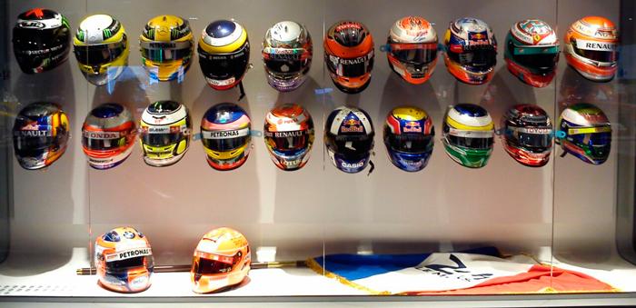 Colección de cascos de Fernando Alonso