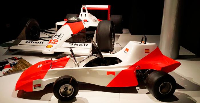 El kart con el que Alonso comenzó a correr, una de las vías habituales para llegar a la F1