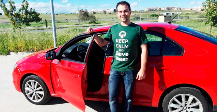 Jaime, ganador del reto :DriveSmart de marzo.