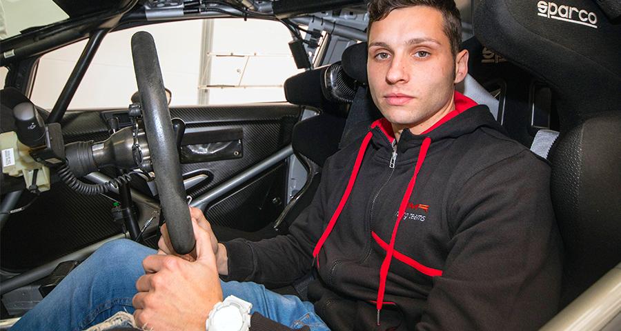 Cristian García, el piloto zaragozano de 26 años