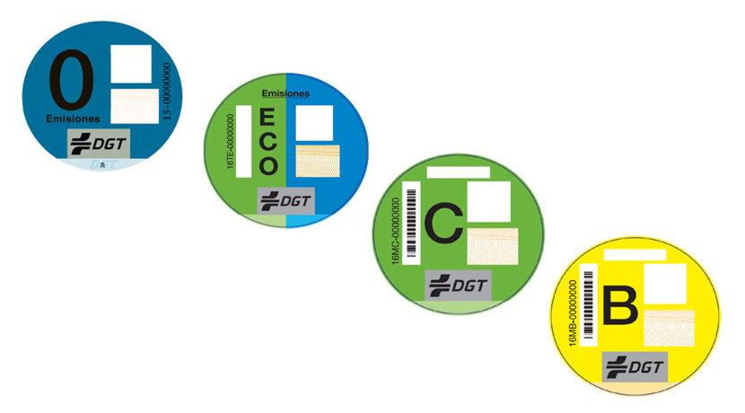 Etiquetas ambientales de la DGT