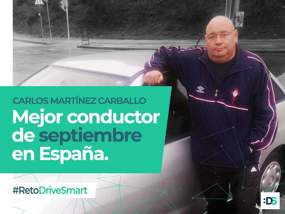 Carlos Martínez Carballo es el ganador del Reto :DriveSmart de septiembre