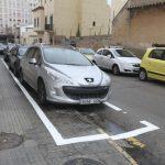 Multa por aparcar en la acera