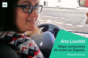 Ana Lourido, la mejor conductora de España de enero de 2019