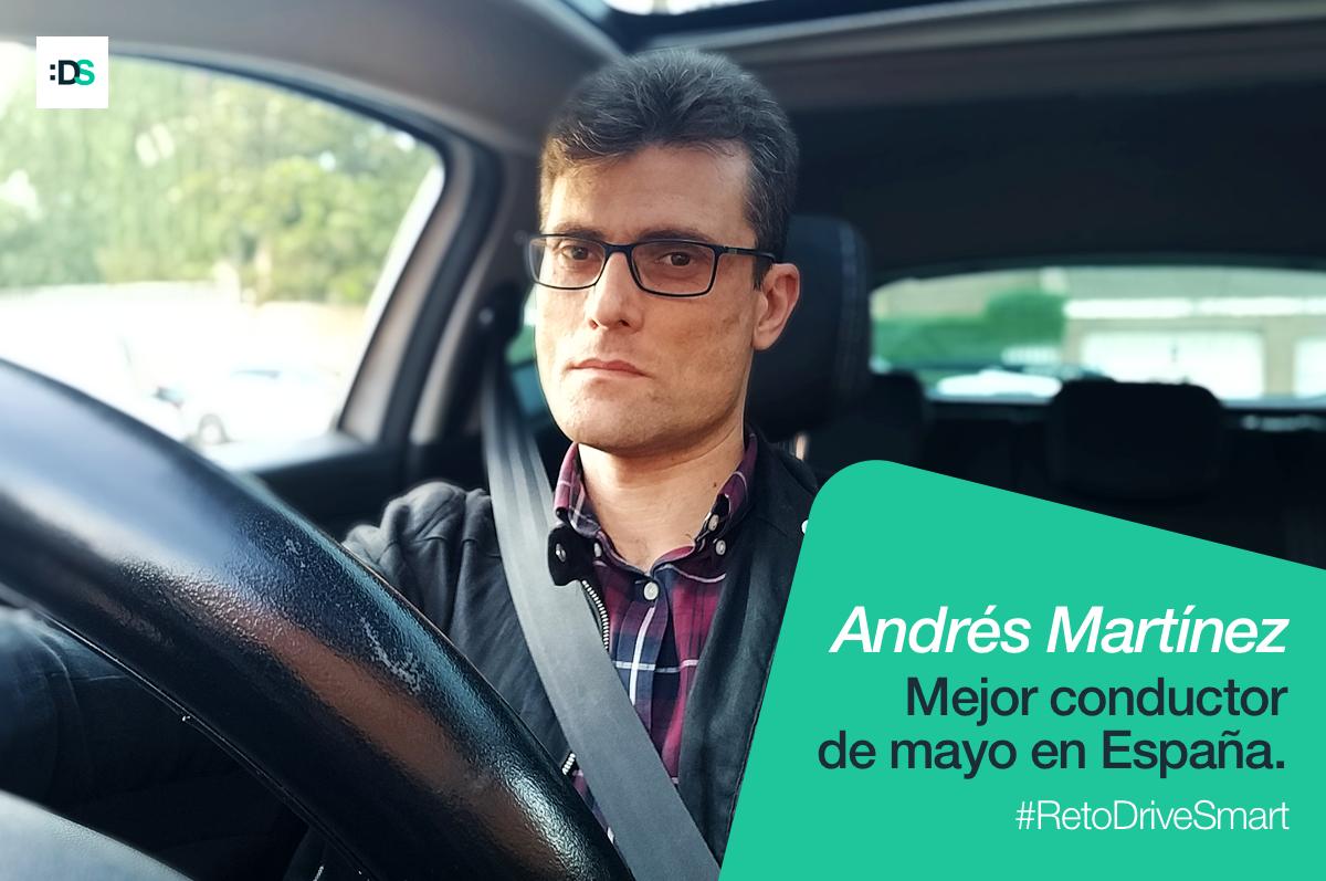 Andrés Martínez de Haro, ganador del Reto :DriveSmart de mayo