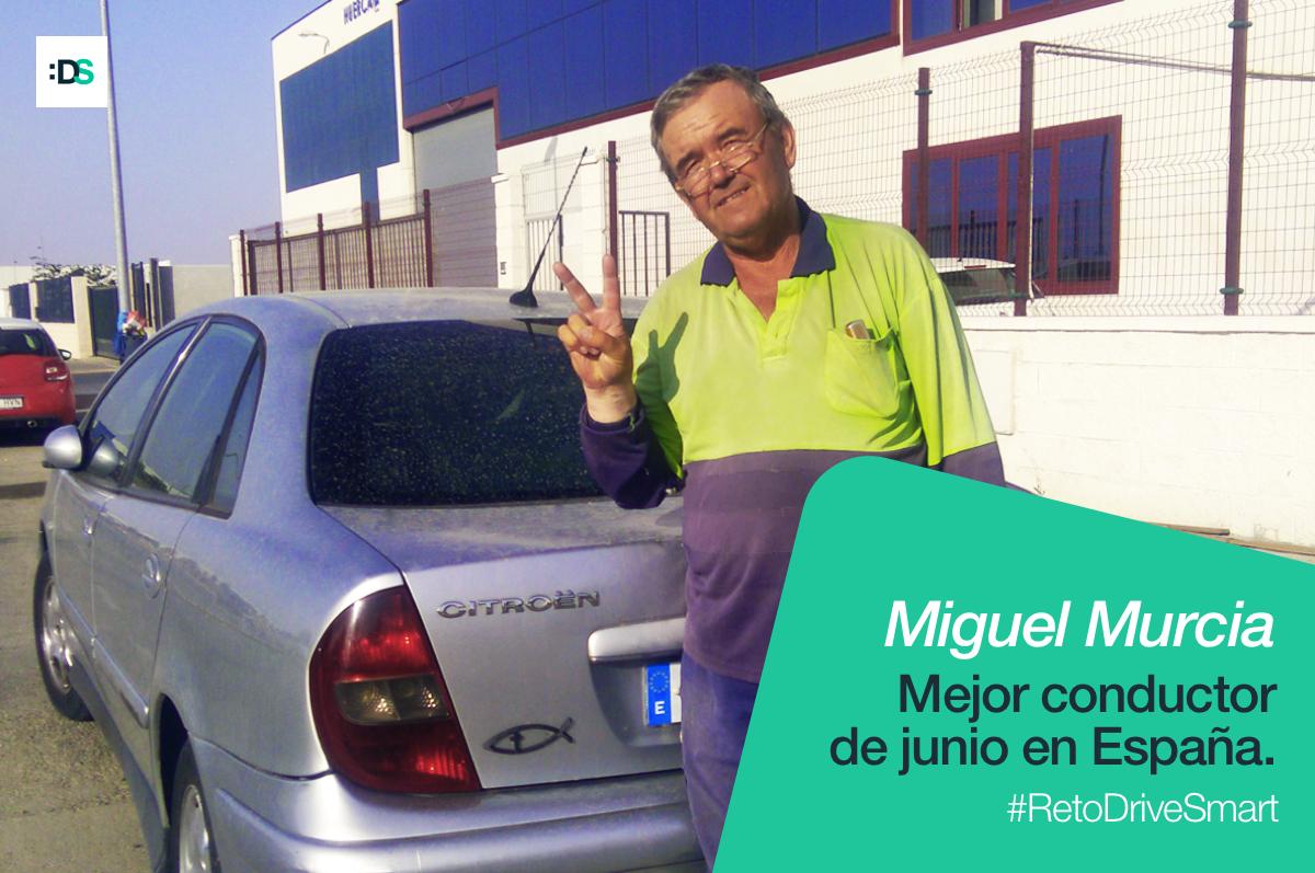 Miguel Murcia Ruiz, ganador del Reto :DriveSmart de junio de 2019