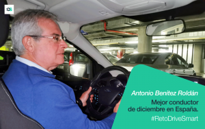 Antonio Benítez Roldán es el ganador del Reto DriveSmart de diciembre de 2019