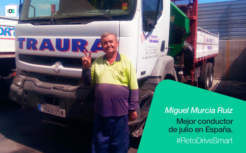 Miguel Murcia es el ganador del Reto DriveSmart de julio