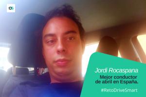 Jordi Rocaspana, ganador del Reto DriveSmart de abril de 2021