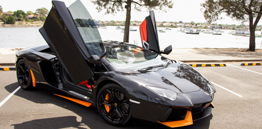 Aventador with Halloween colors