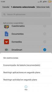 Configurar DriveSmart en Xiaomi Mi Max 2
