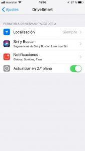 Configurar DriveSmart en Iphone 6S o superiores