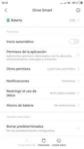 Configurar DriveSmart en Xiaomi Redmi Note 4
