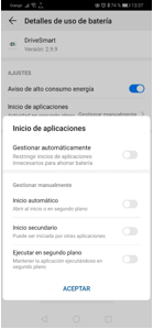 Configurar DriveSmart en Huawei P30